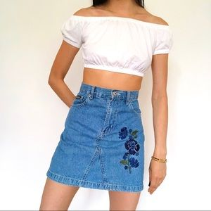 Route 66 Skirts - Super cute 90s Route 66 vintage embroidered skirt
